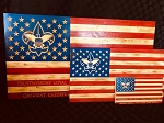 BSA Rustic Wooden American Flag with Scout Law